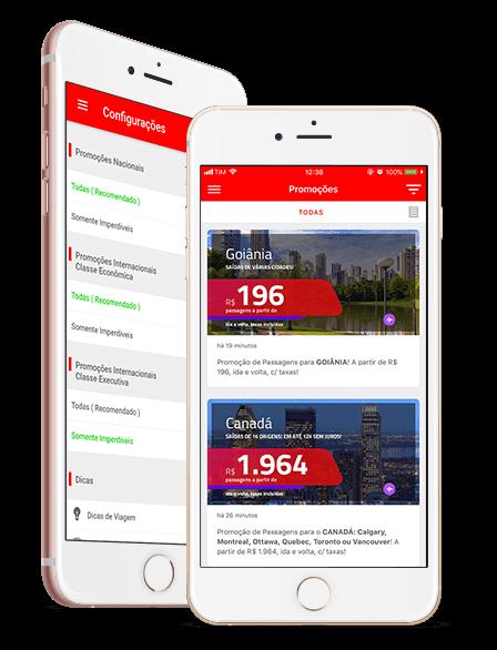 Fique por dentro das últimas promoções de passagens aéreas com o aplicativo do passagens imperdíveis