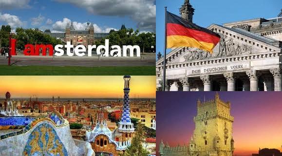 Amsterdam Berlim Barcelona Lisboa