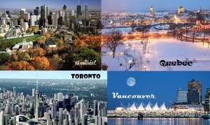 Canada - Montreal - Quebec - Vancouver - Toronto