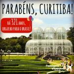Curitiba – 321 anos! Para comemorar: PASSAGENS IMPERDÍVEIS! Da capital paranaense para TODO O BRASIL, até Jan-2015, a partir de R$ 95 – ida e volta!