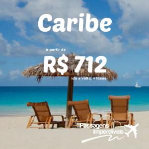 Caribe 712 reais ida e volta