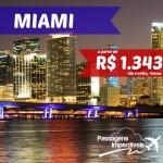 Passagens promocionais para MIAMI, pela AVIANCA. A partir de R$ 1.343, para viajar nos meses de Junho e Julho.