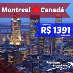 IMPERDÍVEL! Passagens baratas para o CANADÁ, Montreal! A partir de R$ 1.391, ida e volta, para viajar até NOVEMBRO/2014!