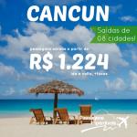 Promoção de passagens para CANCUN! Saídas de 07 CIDADES a partir de R$ 1.224, ida e volta! Saídas de Manaus a partir de R$ 803, ida e volta!