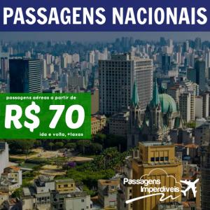 Passagens Nacionais a partir de 70 reais