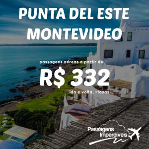 Uruguai Punta del Este Montevideo 332 reais