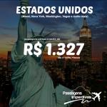 Atualização de passagens baratas para vários destinos nos ESTADOS UNIDOS, a partir de R$ 1.327 ida e volta!