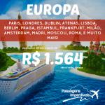 Promoção de passagens da Lufthansa e da British Airways para quase toda a EUROPA! A partir de R$ 1.564, ida e volta, para viajar nos meses de Setembro a Dezembro/14!