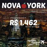 E tem mais promoção de passagens para os Estados Unidos: <b>NOVA YORK</b>, pagando a partir de R$ 1.462, ida e volta!!!