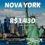 Promoção de passagens para <b>NOVA YORK</b>, a partir de R$ 1.430, ida e volta!