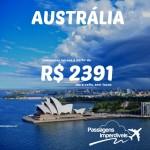 Passagens para a Austrália – SYDNEY e BRISBANE a partir de R$ 2.391 ida e volta! Trechos para novembro/2014!