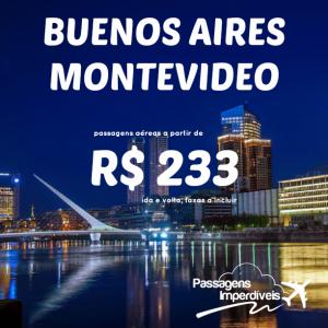 Buenos Aires Montevideo 233 reais