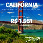 Promoção de passagens para a <b>CALIFÓRNIA</b>: Los Angeles ou San Francisco – San Jose, a partir de R$ 1.551, ida e volta!