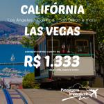 Passagens para <b>LAS VEGAS</b> ou <b>CALIFÓRNIA</b>: Los Angeles, Oakland, San Diego e mais! A partir de R$ 1.333, ida e volta! Até Maio/15! Saídas do RJ e de SP!