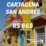 Promoção de passagens para <b>CARTAGENA</b> ou <b>SAN ANDRES</b>, a partir de R$ 668, ida e volta!