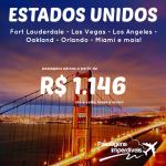 IMPERDÍVEL!!! Promoção de passagens para os <b>ESTADOS UNIDOS</b>: Orlando, Miami, Oakland, Los Angeles e mais! A partir de R$ 1.146, ida e volta!