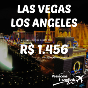 Las Vegas Los Angeles 1456 reais