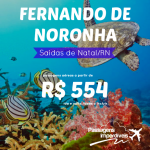 Promoção de passagens da <b>AZUL</b> para <b>FERNANDO DE NORONHA</b>! Saídas de <b>NATAL</b>, a partir de R$ 554, ida e volta, em 10x sem juros!