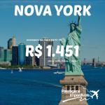 Promoção de passagens para <b>NOVA YORK</b>, a partir de R$ 1.451, ida e volta!