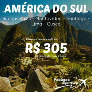 America do Sul 305 reais