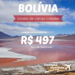 IMPERDÍVEL!!! Promoção de passagens para a <b>BOLÍVIA</b>! A partir de R$ 497, ida e volta! Saídas de várias cidades!