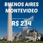 IMPERDÍVEL!!! Promoção de passagens para <b>BUENOS AIRES</b> e <b>MONTEVIDEO</b>, a partir de R$ 234, ida e volta! Saídas de 36 cidades!