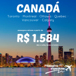 Promoção de passagens para o <b>CANADÁ</b> até Março/2015! A partir de R$ 1.584, ida e volta! Opções de <b>VÔO DIRETO</b>, pela Air Canada!