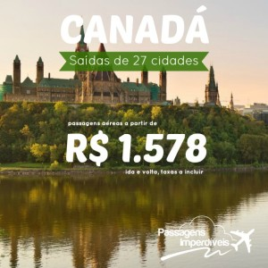 Canada 27 cidades 1578 reais