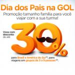 Dia dos Pais na Gol: Promoção de <b>passagens com até 30% de desconto</b> para o <b>Brasil</b> e demais destinos da <b>América do Sul</b>!