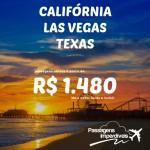 Promoção de passagens para os <b>ESTADOS UNIDOS</b>: Califórnia, Las Vegas, Texas! A partir de R$ 1.480, ida e volta! Saídas do RJ!