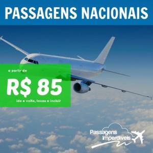 Passagens Nacionais 85 reais