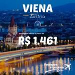 IMPERDÍVEL!!! Promoção de passagens para <b>VIENA</b>, na Áustria! A partir de R$ 1.461, ida e volta!