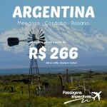 Promoção de passagens para a <b>ARGENTINA</b>: Rosário, Córdoba ou Mendoza! A partir de R$ 266, ida e volta!