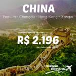 Promoção de passagens para a <b>CHINA</b>! A partir de R$ 2.196, ida e volta! Saídas de várias cidades!