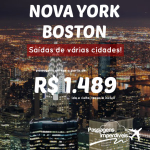 NYC Boston 1489 reais