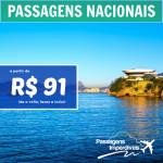 Para qual lugar do Brasil você quer ir? Encontre aqui sua <b>PASSAGEM NACIONAL</b>, a partir de R$ 91, ida e volta!