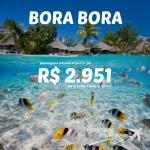 Promoção de passagens para <b>BORA BORA – POLINÉSIA FRANCESA</b>! A partir de R$ 2.951, ida e volta, com passagens até MARÇO/15, inclusive Carnaval!