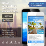 Baixe agora o novo aplicativo do <b>Passagens Imperdíveis</b> e receba alertas de promoções em <b>tempo real</b>!