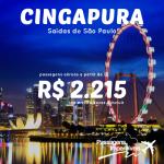 Delta faz promoção de passagens para <b>CINGAPURA</b>, a partir de R$ 2.215, ida e volta! Saídas de São Paulo, para viajar em Novembro/14 ou Janeiro/15!