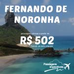 IMPERDÍVEL!!! Passagens para <b>FERNANDO DE NORONHA</b>, saindo de <b>Salvador</b>, a partir de R$ 502, ida e volta, <b>COM TAXAS</b>, pelo <b>Submarino Viagens</b>!