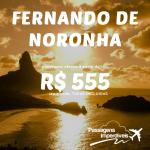 IMPERDÍVEL!!! Passagens para <b>FERNANDO DE NORONHA</b>, por R$ 555, ida e volta, <b>COM TAXAS</b>, pelo <b>Submarino Viagens</b>! Saídas de Fortaleza, entre <b>DEZEMBRO/14 a FEVEREIRO/15!</b>