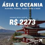 Promoção de passagens da <b>QATAR</b> para os destinos da <b>ÁSIA</b> e <b>OCEANIA</b>: Austrália, Malásia, Japão, Índia e mais! A partir de R$ 2.273, ida e volta!