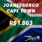 Promoção de passagens para a <b>ÁFRICA DO SUL</b>! Joanesburgo e Cidade do Cabo (Cape Town), a partir de R$ 1.863, ida e volta! Para viajar até Junho/15, saindo de SP ou RJ!
