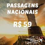 Aproveite a promoção da <b>GOL</b> de <b>Passagens Nacionais</b>! Trechos a partir de R$ 59!
