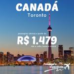 Promoção de passagens para <b>TORONTO</b>, no <b>CANADÁ</b>! A partir de R$ 1.479, ida e volta, para viajar de Junho a Outubro/15!