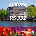 IMPERDÍVEL! Passagens para a Europa a partir de R$ 332 ida e volta!
