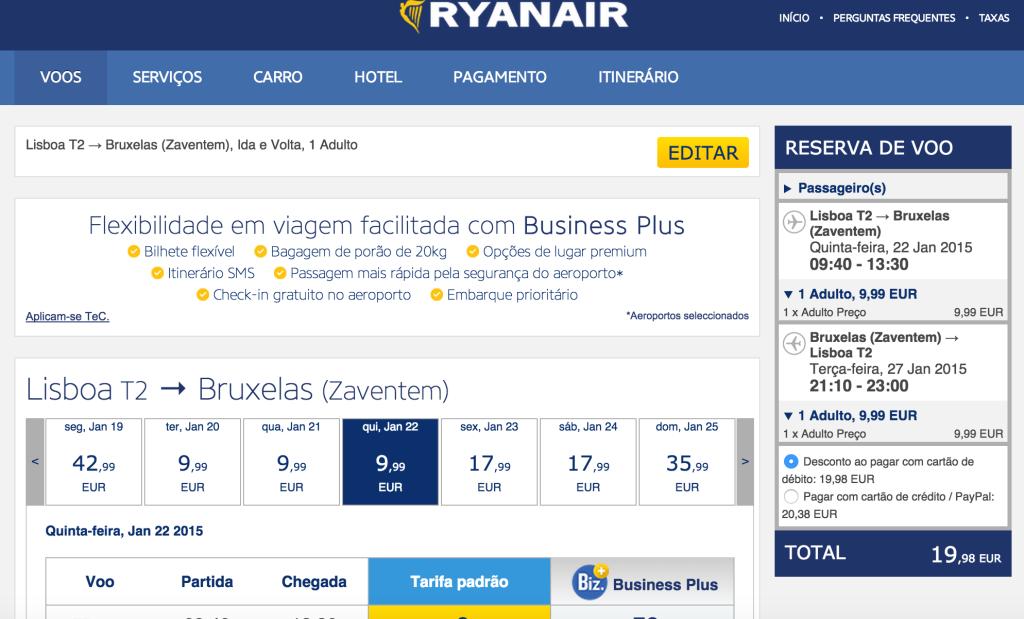 Print Passagem Europa Ryan Air