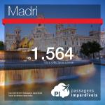 IMPERDÍVEL!!! Promoção de passagens para a <b>EUROPA</b>! Pela <b>Air China</b>, para Madri, saindo de São Paulo! A partir de R$ 1.564!