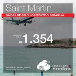 Passagens em promoção para <b>SAINT MARTIN</b>! A partir de R$ 1.354, ida e volta! Saídas de <b>Belo Horizonte</b> ou <b>Brasília</b>!