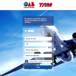 Membros da <b>OAB</b> – Advogados e Estagiários – receberão <b>descontos</b> nas compras de <b>passagens aéreas</b> nacionais e internacionais da TAM!
